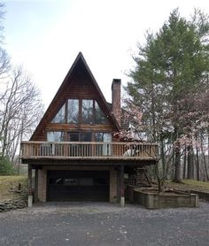 A frame house - what our house would look like with a lift?? (If you're interested, Pictures of our A frame can be found under our Pinterest account 'Us Scholtzs' and the board called Our A Frame)