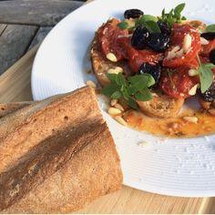 Sommersalat Tomaten-Brotsalat glutenfrei Rezept