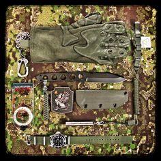 Prometheus Design Werx Griffin™ Skeleton Knife in MILSPEC OD Green CeraKote.