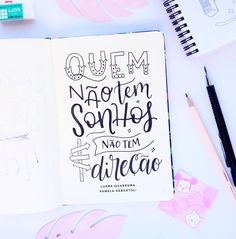 Creative Lettering, Brush Lettering, Bullet Journal Tracker, Lettering Tutorial, Calligraphy Letters, Study Inspiration, Decorate Notebook, Study Notes, Music Quotes