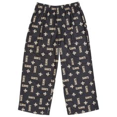 New Orleans Saints  Youth Printed Pajama Pants – Black - $14.99