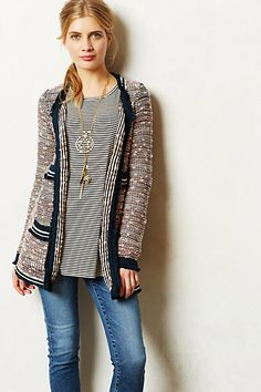 Has that sporty thing going on that seems to be big for spring...Grafton Marled Jacket #anthropologie
