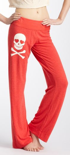 Skull lounge pants / wildfox