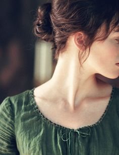 "TU50.7 ""That's very sweet, Fitzwilliam,"" said Elizabeth with a sniff, ""but you don't have to rewrite history."" This pic - Keira Knightley in Pride and Prejudice 2005 #janeausten #joewright"