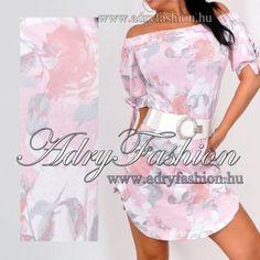 0db49b7ff9 Rózsaszín ujján megkötős rózsamintás vállra lehúzható női ruha - AdryFashion  női ruha webáruház, Ruha webshop, Amnesia, NedyN, Rensix , Egyedi ruha