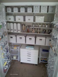 Craft Room Design, Pictures, Remodel, Decor and Ideas - closet storage