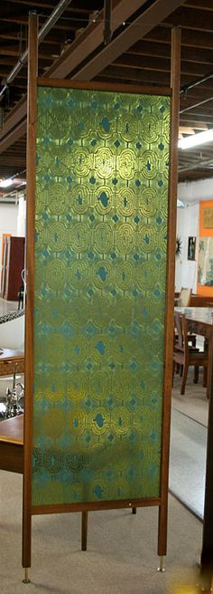 Lovely patterned acrylic room divider.