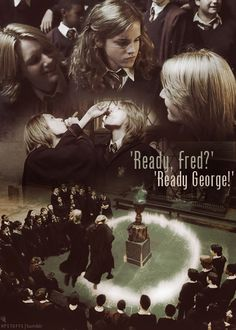 'Ready Fred?' 'Ready George?' - Harry Potter Stuff