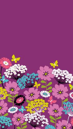 Dress your tech: Flutterby Mobile Wallpaper | Vera Bradley