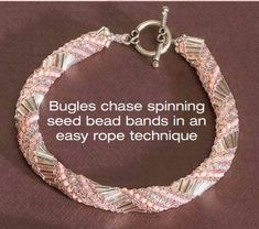 Russian Wraparound bracelet free directions using seed beads and bugle beads
