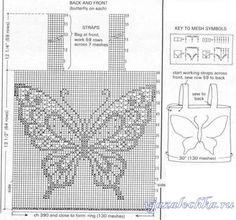 Летняя кофточка крючком с бабочкой