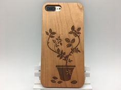 #Potted #Flower #wooden #wood #phone #cover #case #jiacase #original #design