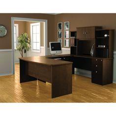 Bestar Palmer U-Shaped Workstation | Overstock.com Shopping - The Best Prices on Bestar U-Shape Desks