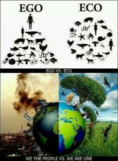 Ego vs Eco. We are the people VS We are one.