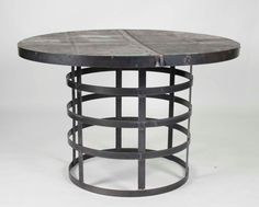 Knightley Metal Dining Table By Zentique