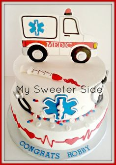 If someone got me this cake when I finish my paramedics, I will answer all of your medic related emergencies.