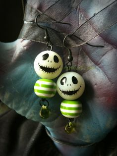 Jack Skellington earrings (that GLOW)
