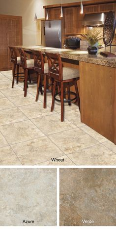 The Wheat is a luxury #vinyl #floor tile that is groutable, made to look like a natural ceramic tile. Its unique surface texturing offers both incredible appearance and durability and is also available in 2 other styles.