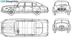 1958 Tatra 603 Sedan blueprint