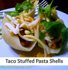 Taco Stuffed Pasta Shells Recipe #Tacos #TacoTuesday #Recipes #Pasta