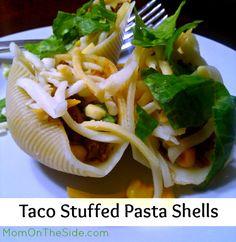 Taco Stuffed Pasta Shells Recipe #Tacos #TacoTuesday #Recipes #Pasta