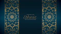 Ethnic style mandala pattern premium bac... | Free Vector #Freepik #freevector #background #banner #floral #islamic Arabic Pattern, Mandala Pattern, Mandala Design, New Year Wishes Cards, Motif Arabesque, Background Patterns, Background Banner, Style Oriental, Mehndi