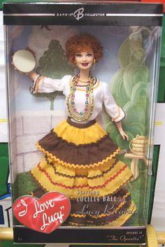 "Barbie I Love Lucy Doll  Lucy ""The Operetta"" Gypsy Ep.38 Lucille Ball Mattel NIB"