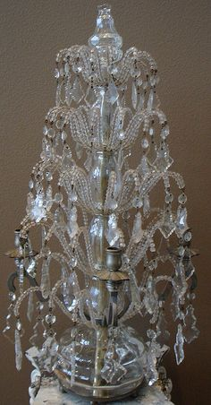 French Beaded Candelabra