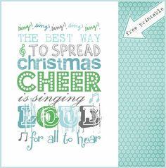 Singing Printable - Over 50 Creative Christmas Printables Collection