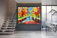 Handmade Wall Art Paintings Acrylic painting canvas image 2 Large Canvas Art, Black Canvas, Oversized Wall Art, Colorful Artwork, Extra Large Wall Art, Office Wall Art, Modern Wall Decor, Texture Art, Acrylic Painting Canvas