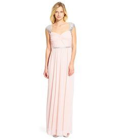$159 Blush:Adrianna Papell Sequined Cap-Sleeve Gown -Dillard's (option 13)