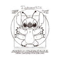 Disney: Stitch Vitruvian Man t-shirt. #disney #stitch #VitruvianMan