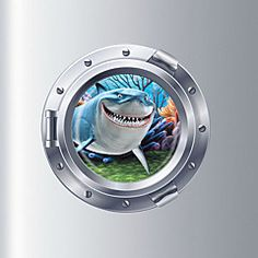 Videos Submarine Shark Fridge Magnet