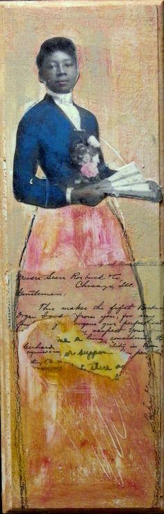 Fleur original tall girl vintage african American by MaudstarrArt,