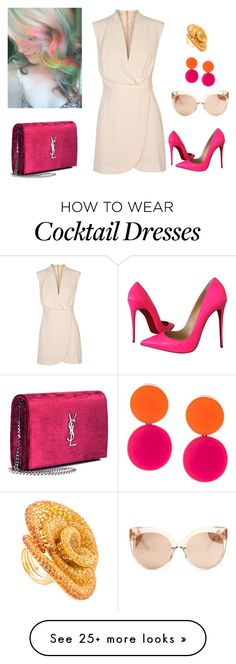 """""""very cool"""" by cemkasg on Polyvore featuring Finders Keepers, Christian Louboutin, Yves Saint Laurent, Monies and Linda Farrow"""