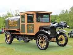 1919 Ford Model TT gas tanker....