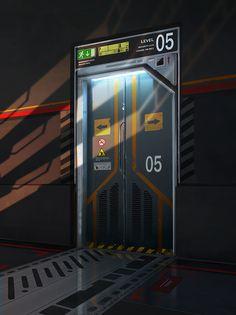 Sci-fi door by ARTek92.deviantart.com on @deviantART