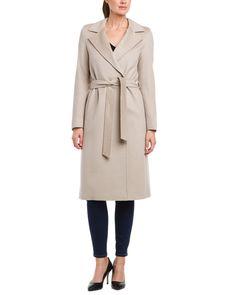 Cinzia Rocca Camel Two-Button Long Wool Wrap Coat is on Rue. Shop it now.