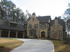 House plan by L. Mitchell Ginn & Associates - stone  www.mitchginn.com