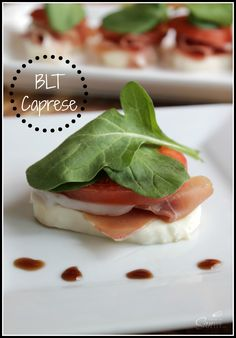 Easy and Elegant Appetizer - BLT Caprese Insalata