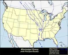 Mississippi Flyway with Principal Routes