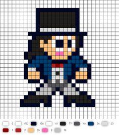 Zatanna Update DC Perler Bead Pattern