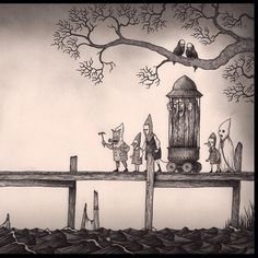 From the cost #johnkennmortensen #artwork #drawing #doom #witch