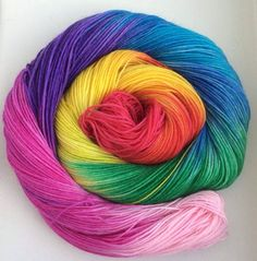 Rainbow Rainbow Colors, Vibrant Colors, Colorful, Happy Colors, Over The Rainbow, Hand Dyed Yarn, Fiber Art, Knitting Patterns, Colour Therapy