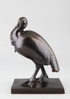 BOUTAREL Simone, sculpture bronze du 20e siècle. Le dindon sauvage