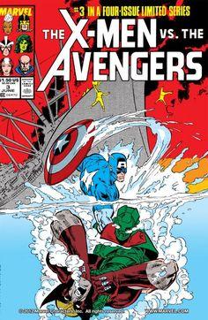 The X-Men vs. The Avengers (Jun Marvel) for sale online Marvel Comic Character, Marvel Comic Books, Comic Book Characters, Comic Book Heroes, Marvel Characters, Comic Books Art, Comic Art, Book Cover Art, Comic Book Covers