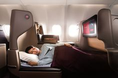 Qantas A330   Business class air travel redesigned by Marc Newson