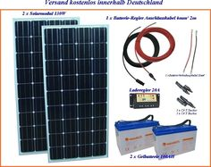 G 260Wp 12V 2x100AH Inselanlage Solarmodul Solaranlage Wohnmobil 12 Volt Solar