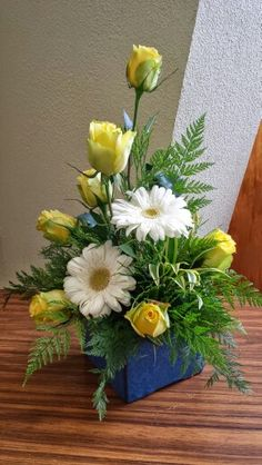 Saffron  greeting arrangement