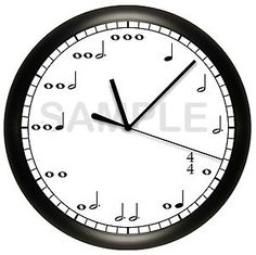 Music Notes Wall Clock Sheet Music Notes Art Decor Musician Keyboard Piano | eBay